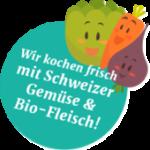 Wir kochen frisch mit Schweizer Gemüse & Bio-Fleisch